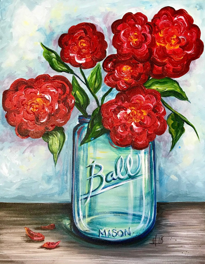 Virtual Class: Roses in a Ball Jar