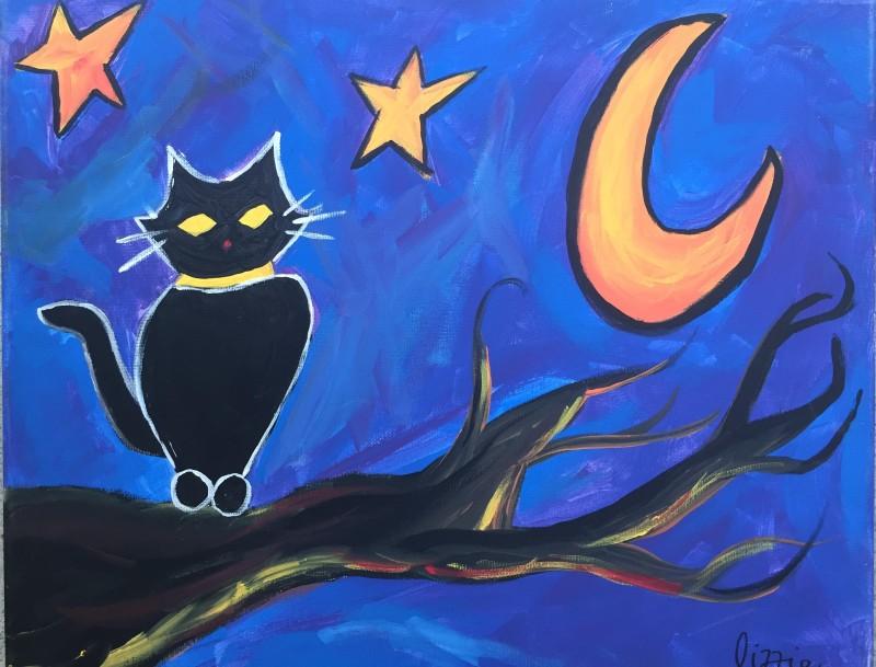 NEW Art Buzz Kids Class: Spooky Cat - In Studio Class 11am-12:30pm
