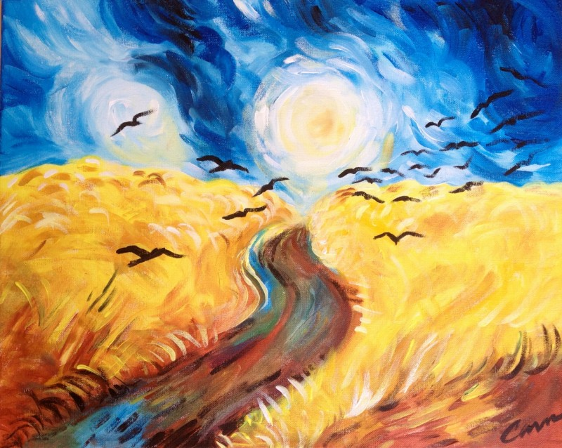 Van Gogh's Wheat Fields and Crows