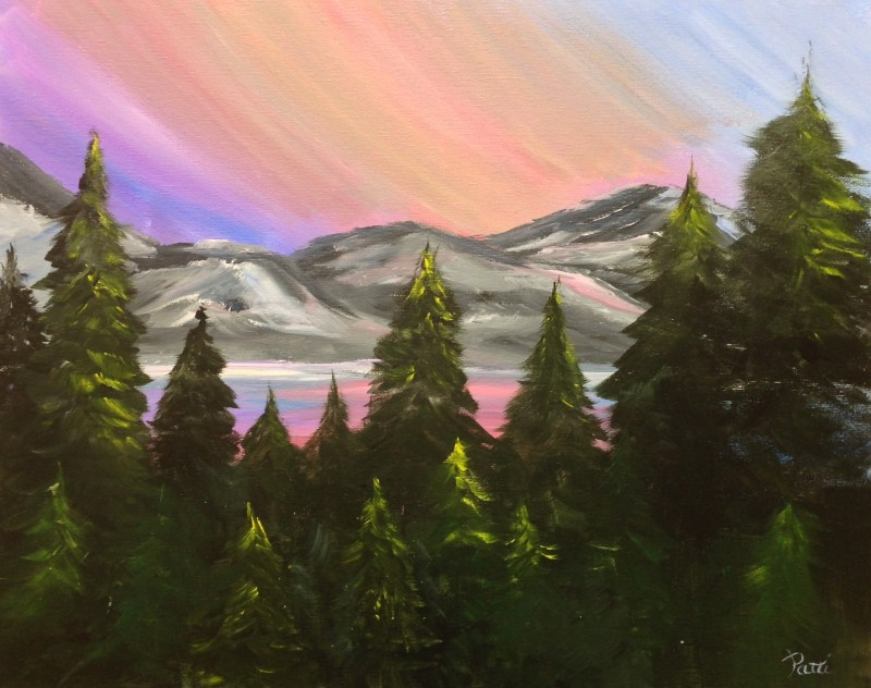 LIVE Virtual Class - Vibrant Sky - Acrylic on Canvas