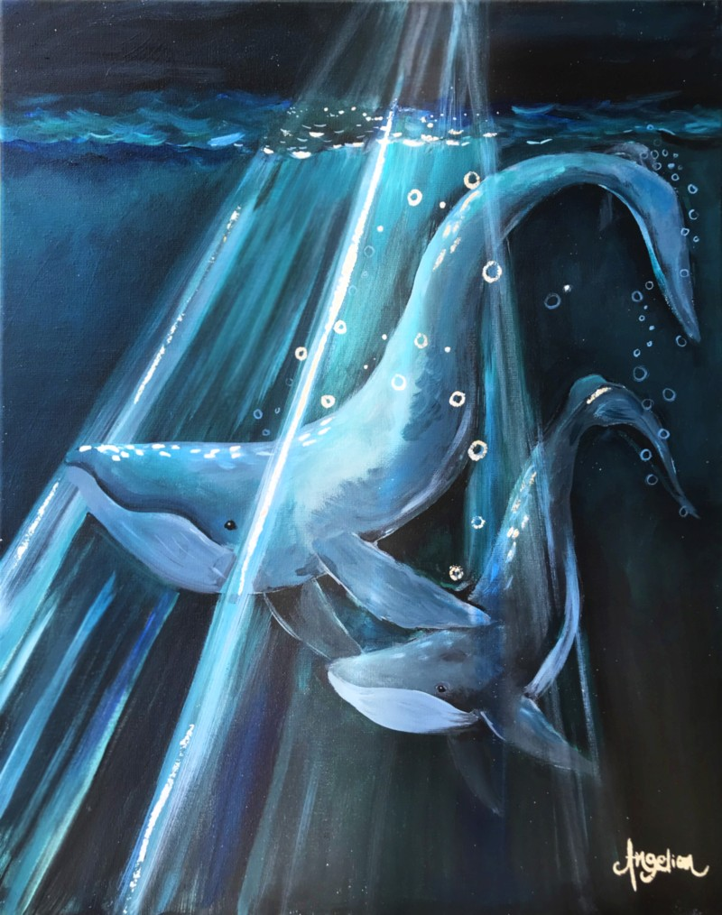 WHALE LOVE | VIRTUAL PAINT CLASS WITH PAINT KIT | 8:00PM EST | PAINT KIT PICK UP 8/14 2PM-5PM