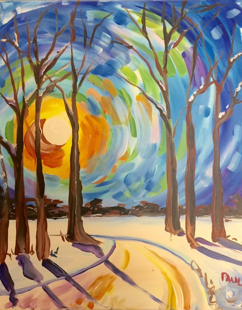 Whimsical Winter Sunset