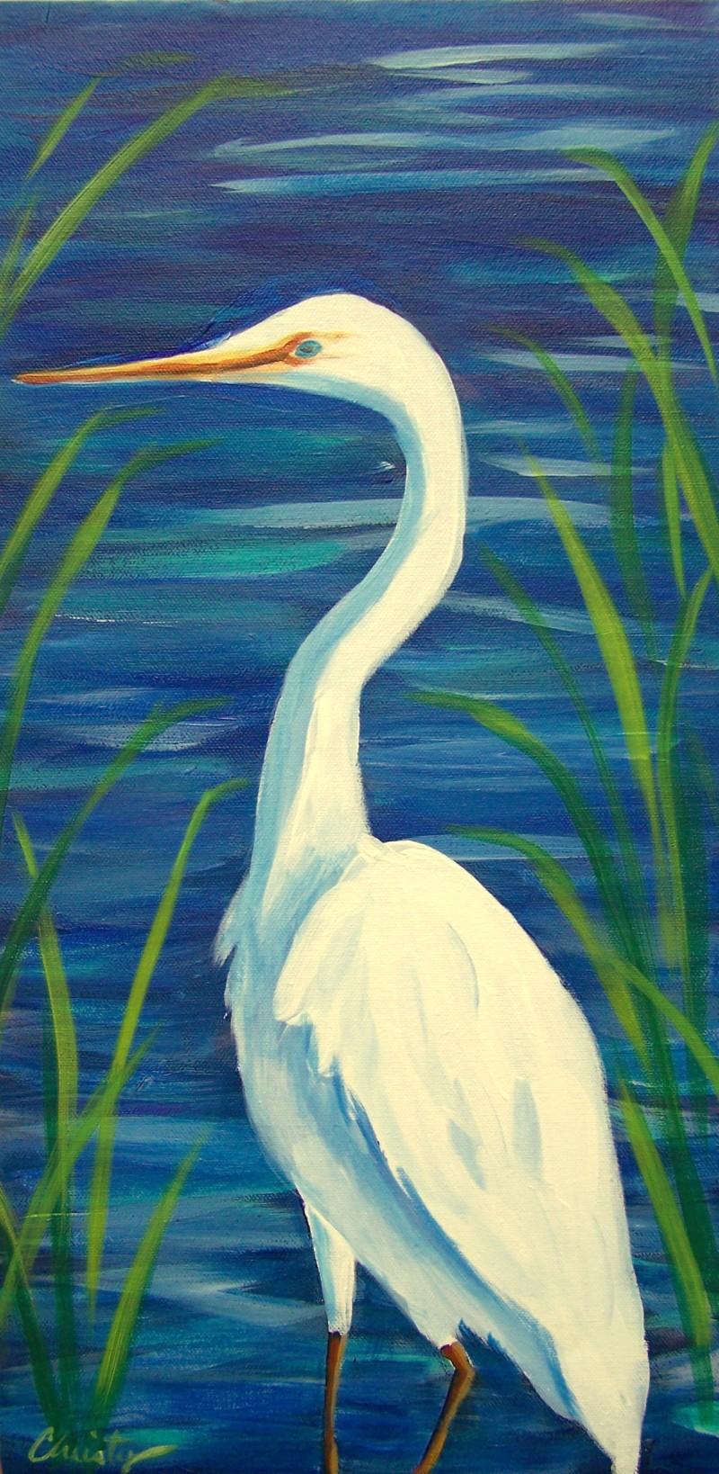Art in the Park! White Heron