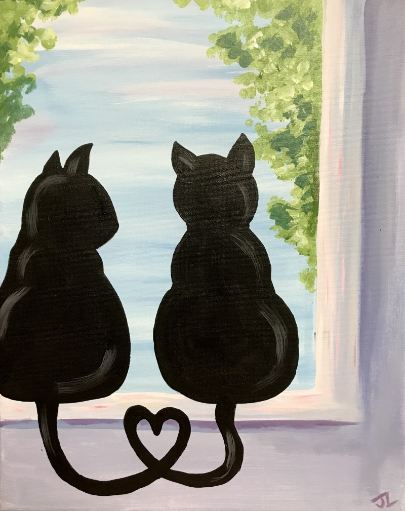 Window Cats- TAKE HOME PAINT KIT - - ORDER TODAY! CURB SIDE PICK UP TOMORROW 2PM-5PM!