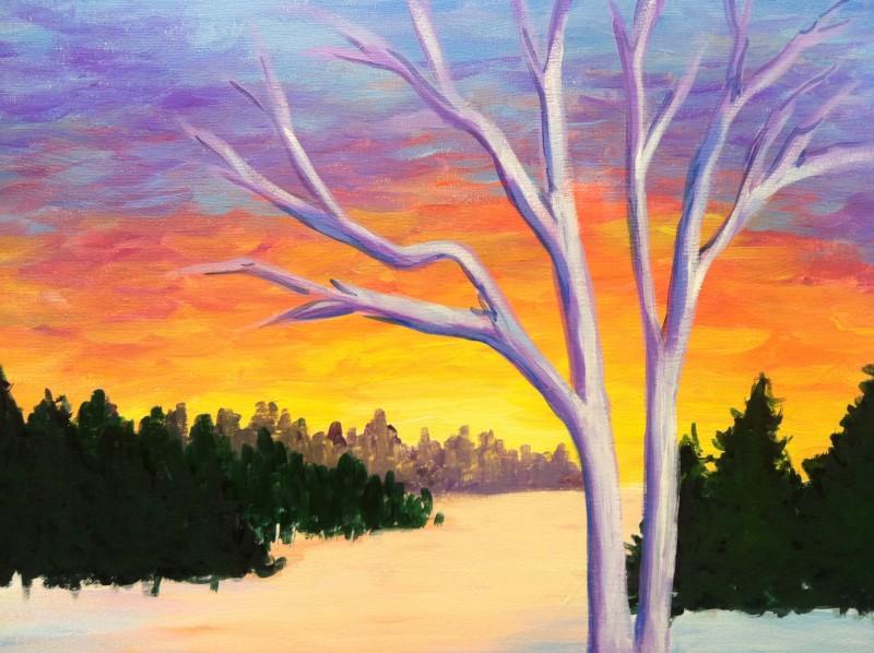 VIRTUAL CLASS | Winter Sunset