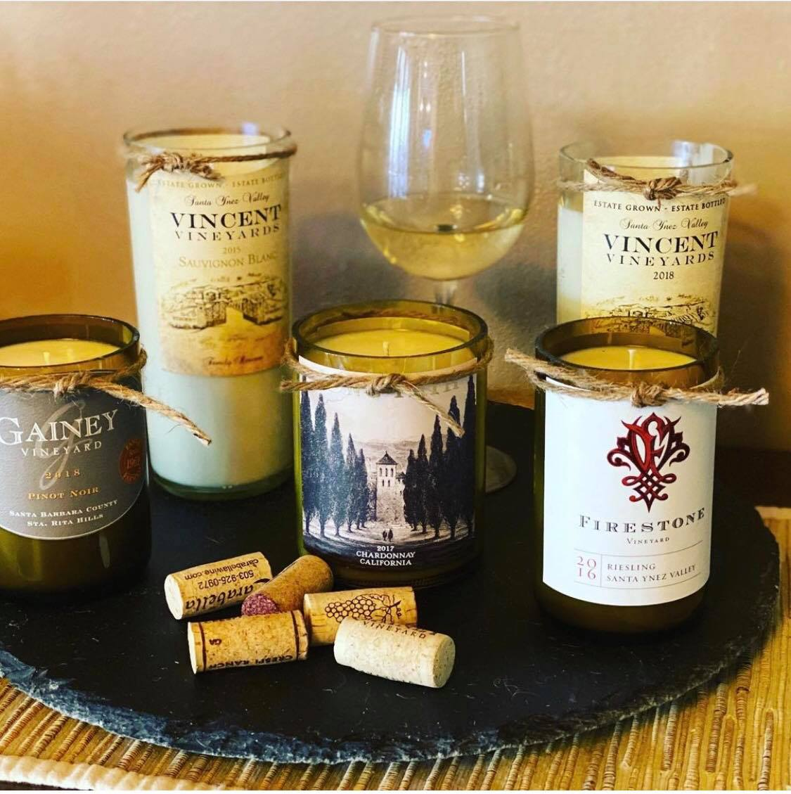 Scented Wine Bottle Soy Candle