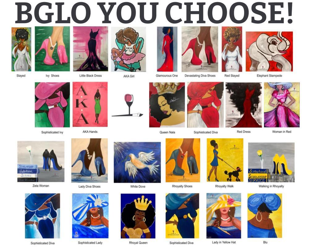 BGLO (Sorority) Paint Kits