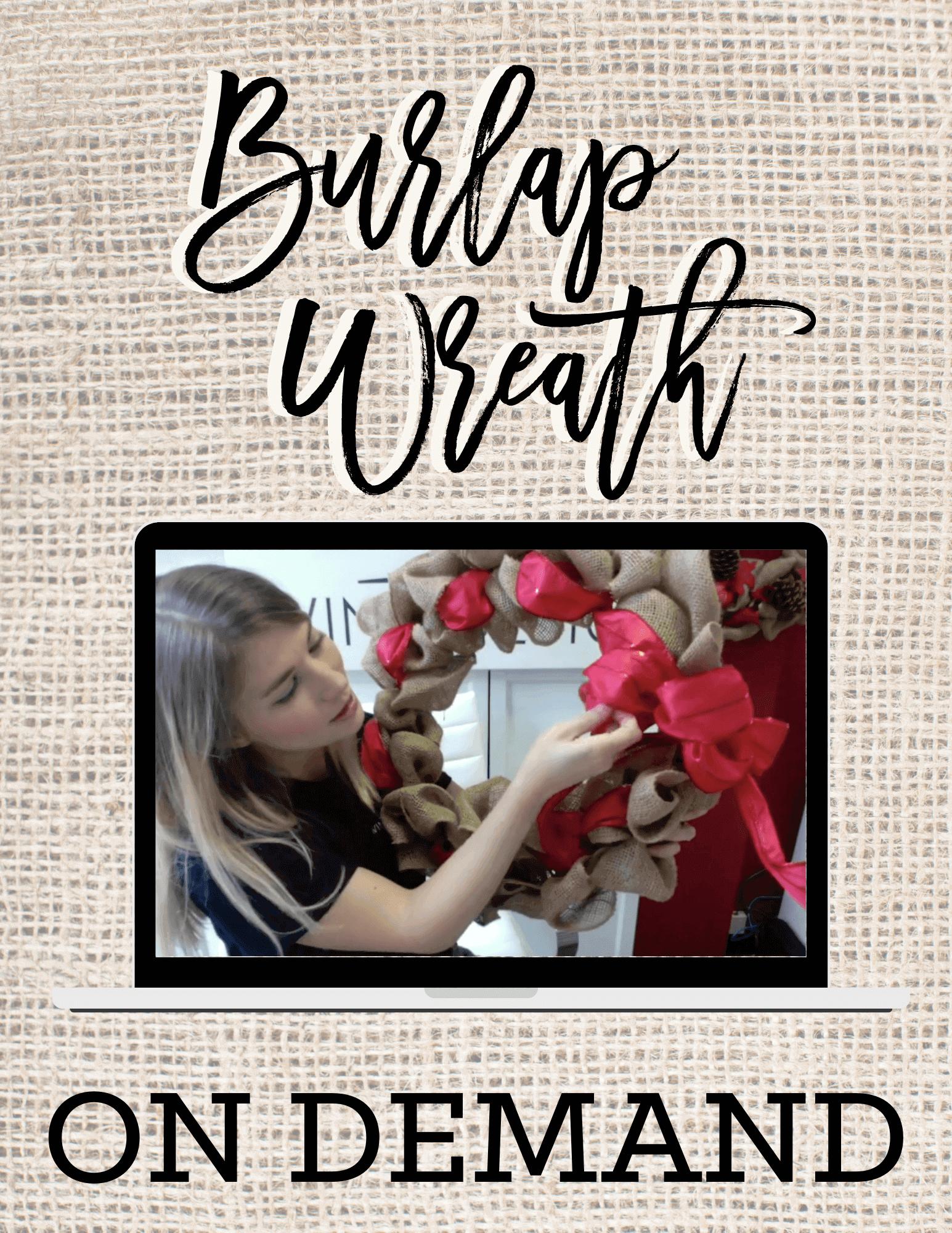 Burlap Wreath On Demand Class