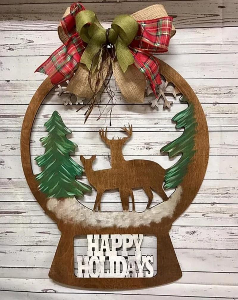 DIY Happy Holidays Deer Globe Take Home Kit