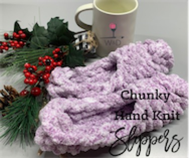 Chunky Hand Knit Slippers