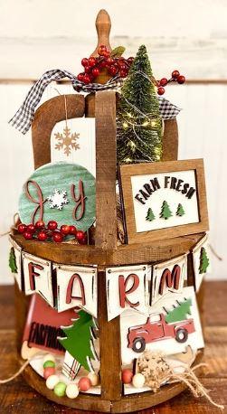 Farm Fresh Holiday Tiered Tray Cutouts