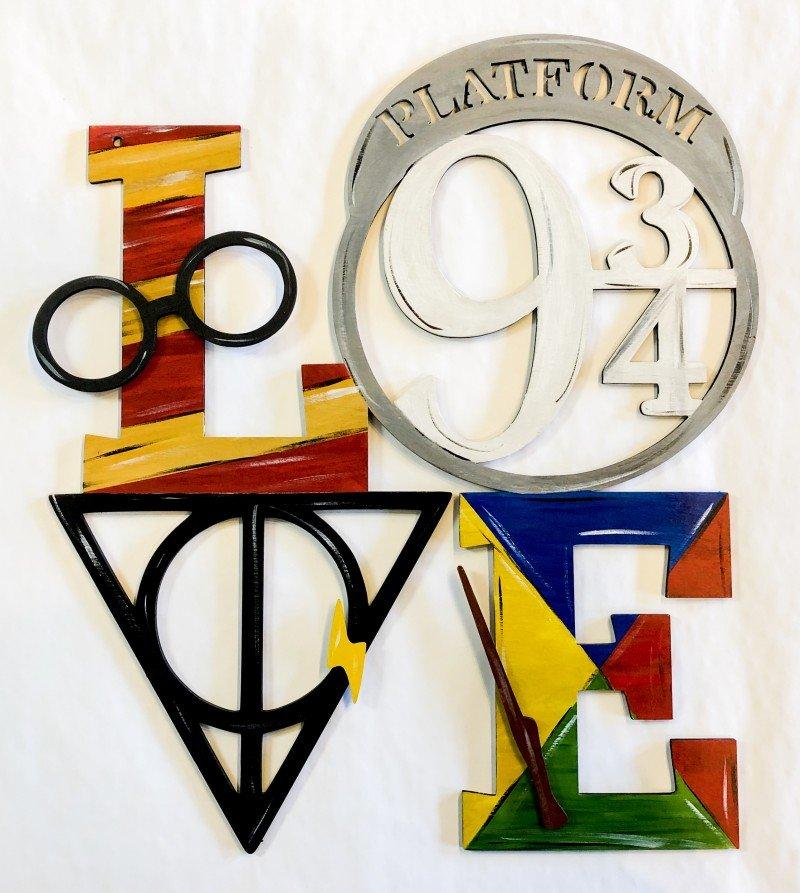 Harry Potter LOVE Wooden Cutout