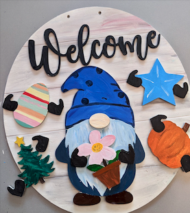 Interchangeable Gnome Sign Kit