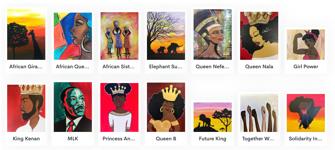 African American Pride Paintings