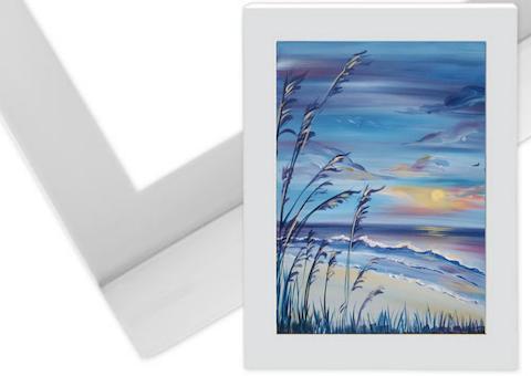 16x20 Wooden White Frame