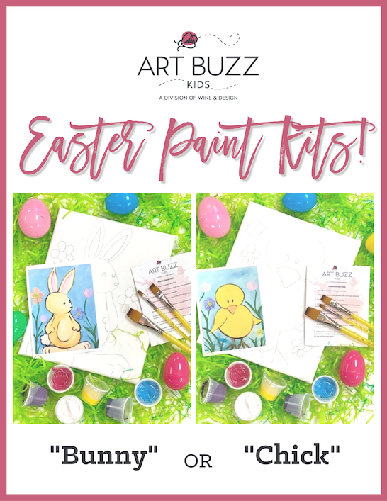 BUNNY or CHICK Easter Paint Kits