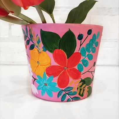Take Home Kit DIY: Pink Terra Cotta Flower Pot