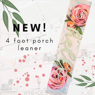 Take Home Kit DIY: Oh, hello Peony 4ft Porch Leaner