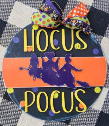 Take Home DIY Kit: Hocus Pocus Wood Door Sign