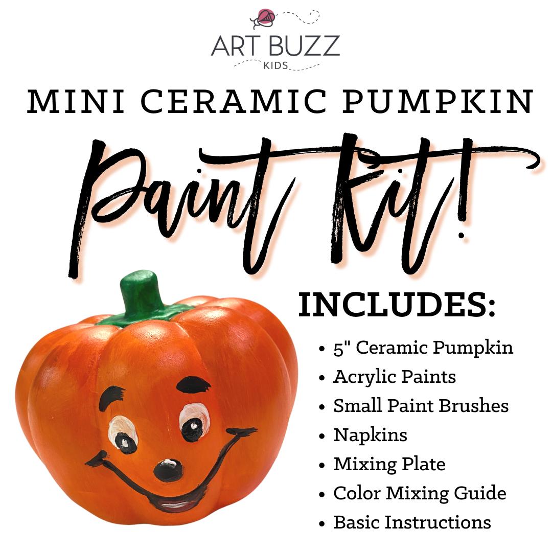 Mini Ceramic Pumpkin Paint Kit
