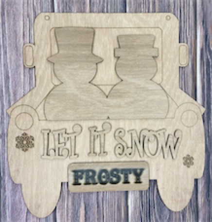 DIY HOLIDAY Wood Project - Let It Snow