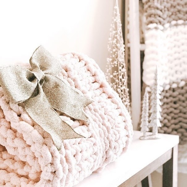 Pre Made Chunky Knit Blanket