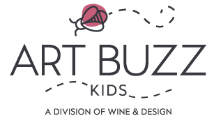 Wine_&_Design_2015_Art_Buzz_Pink_Logo_Neg_W&D