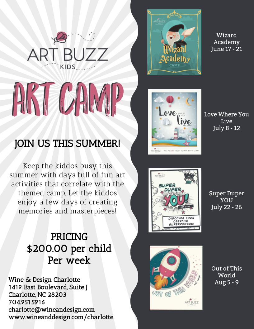 Fun Summer Art Camps for Kids | Charlotte, NC Wine & Design