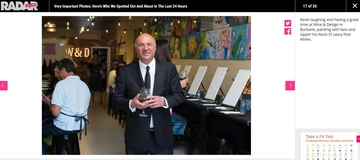 Kevin O'Leary at Wine & Design Burbank