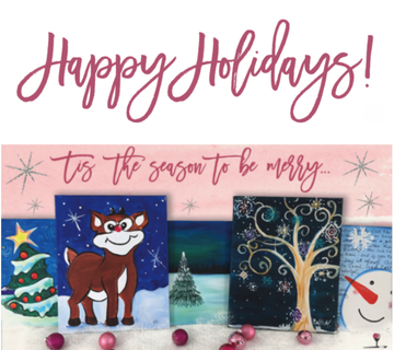 wine & design holiday paintings
