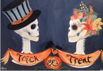 trick or treat painting