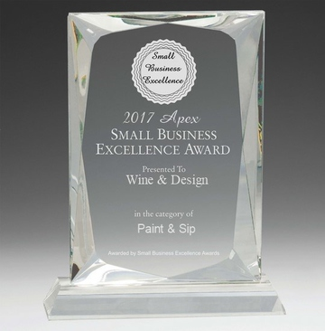 2017 Wine & Design Apex Small Business Excellence Award
