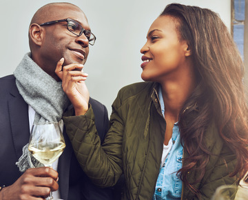 Couple with wine picture