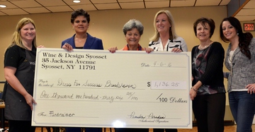 Ladies with large charity check